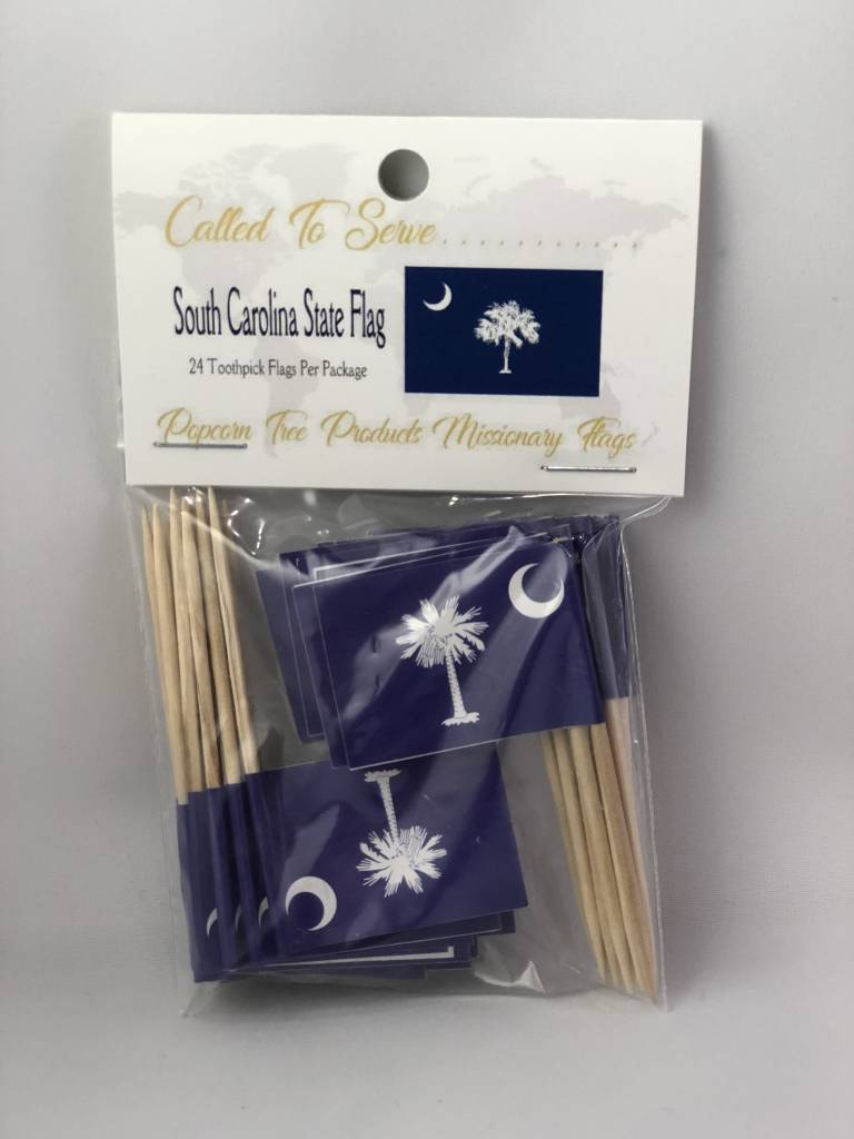 Popcorn Tree Called to Serve Toothpick Flags - South Carolina