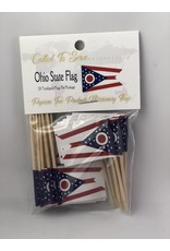Popcorn Tree Called to Serve Toothpick Flags - Ohio