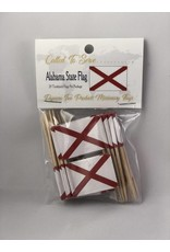 Popcorn Tree Called to Serve Toothpick Flags - Alabama