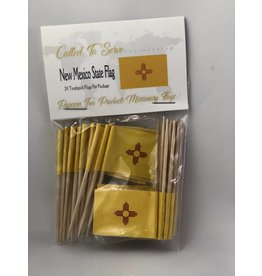Popcorn Tree Called to Serve Toothpick Flags - New Mexico