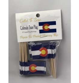 Popcorn Tree Called to Serve Toothpick Flags - Colorado
