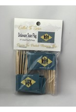 Popcorn Tree Called to Serve Toothpick Flags - Delaware