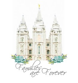 Popcorn Tree 2019 Primary Theme Card - 4x6 - Families are Forever