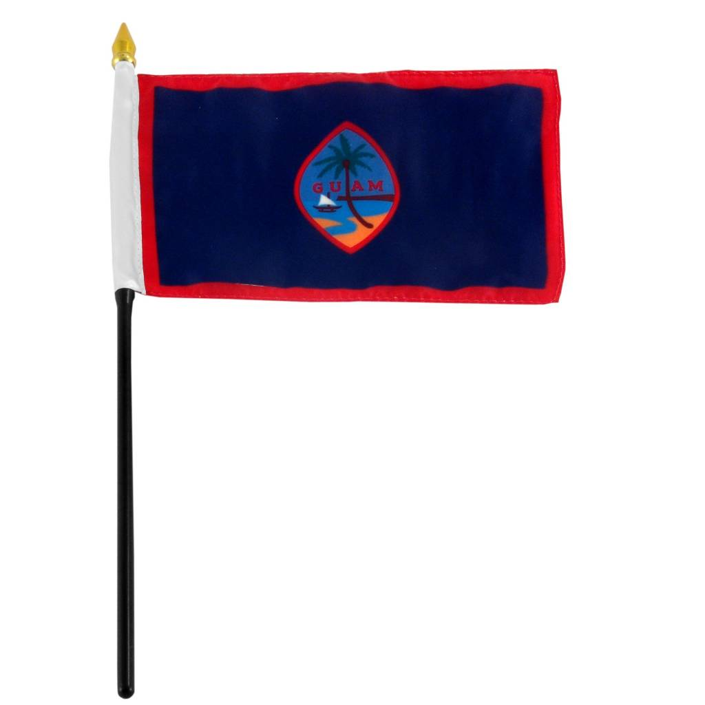 "Popcorn Tree Stick Flag 4""x6"" - Guam"