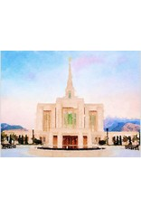 Popcorn Tree Watercolor Temple Full Background 8x10 - Ogden