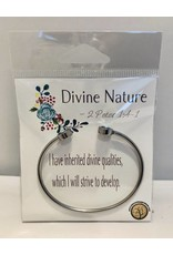 Popcorn Tree YW Value Cubic Zicornia Open Cuff Bracelet - Divine Nature