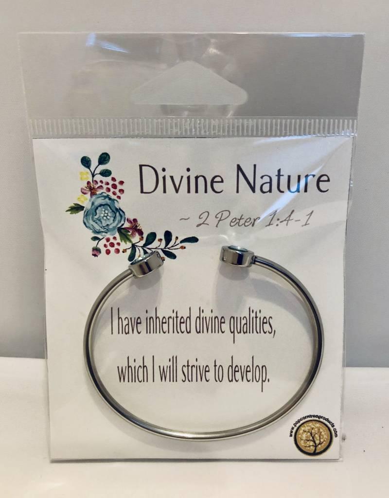 Popcorn Tree YW Value Cubic Zicornia Open Cuff Bracelet - Divine Nature