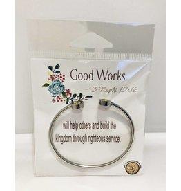 Popcorn Tree YW Value Cubic Zicornia Open Cuff Bracelet - Good Works