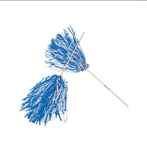 Beistle Spirit Pom-Pom - Blue/White