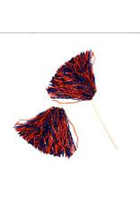 Beistle Spirit Pom-Pom - Orange/Blue