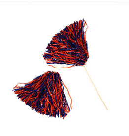 Beistle Spirit Pom-Pom - Orange/Blue