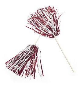 FUN EXPRESS Spirit Pom-Pom - Maroon/White