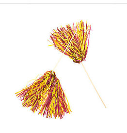 Beistle Spirit Pom-Pom - Maroon/Golden Yellow
