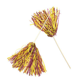 FUN EXPRESS Spirit Pom-Pom - Maroon/Yellow
