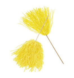 FUN EXPRESS Spirit Pom-Pom - Solid Yellow
