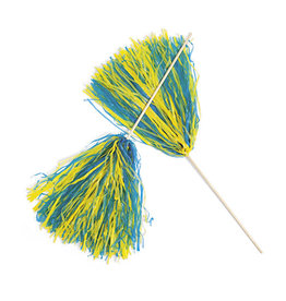 FUN EXPRESS Spirit Pom-Pom - Yellow/Blue