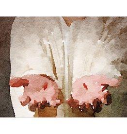 Watercolor Print 8x10 - Christ's Hands