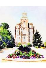 Watercolor Temple Full Background 11x14 - Logan  (portrait)