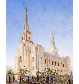Watercolor Temple 8x10 - Brigham City