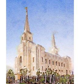 Watercolor Temple 8x10 - Brigham City