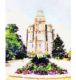 Watercolor Temple 8x10 - Logan (portrait)