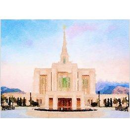 Watercolor Temple 8x10 - Ogden