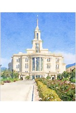 Watercolor Temple Full Background 8x10 - Payson