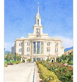 Watercolor Temple 8x10 - Payson