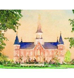 Watercolor Temple 8x10 - Provo City Center