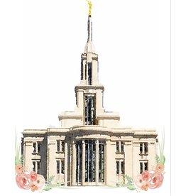 Watercolor Temple 5x7 - Payson