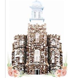 Watercolor Temple 5x7- Logan