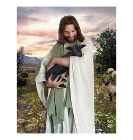 "Brent Borup Christ with Lamb 3"" x 4"" Card"
