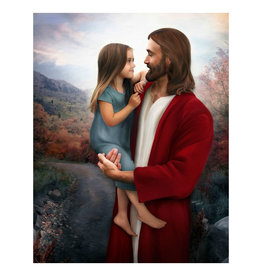 "Brent Borup Christ with Girl 3"" x 4"" Card"