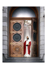 """Brent Borup Christ at the Door, 3"""" x 4"""" Card"""