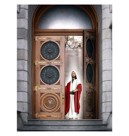 "Brent Borup Christ at the Door, 3"" x 4"" Card"