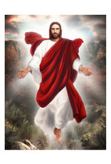 Brent Borup Card - Christ in Red Robe,  3x4