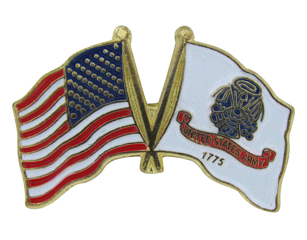 Lapel Pin - US and Army Flags
