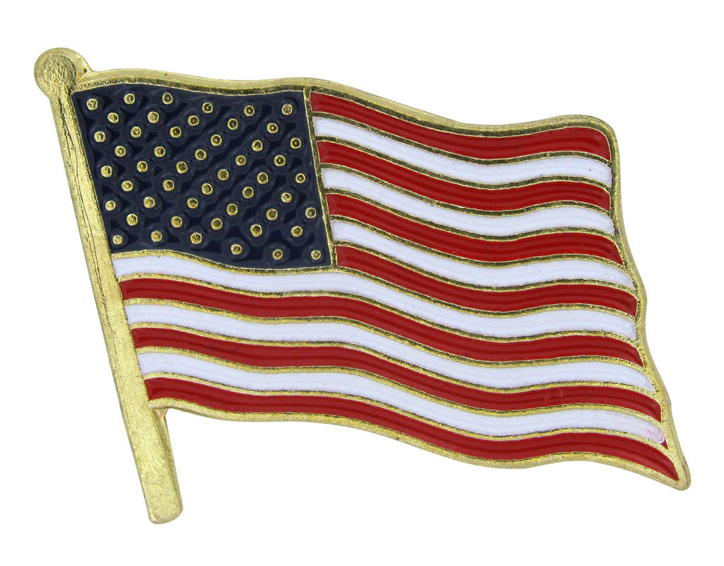 Online Stores Lapel Pin - United States (USA) Flag