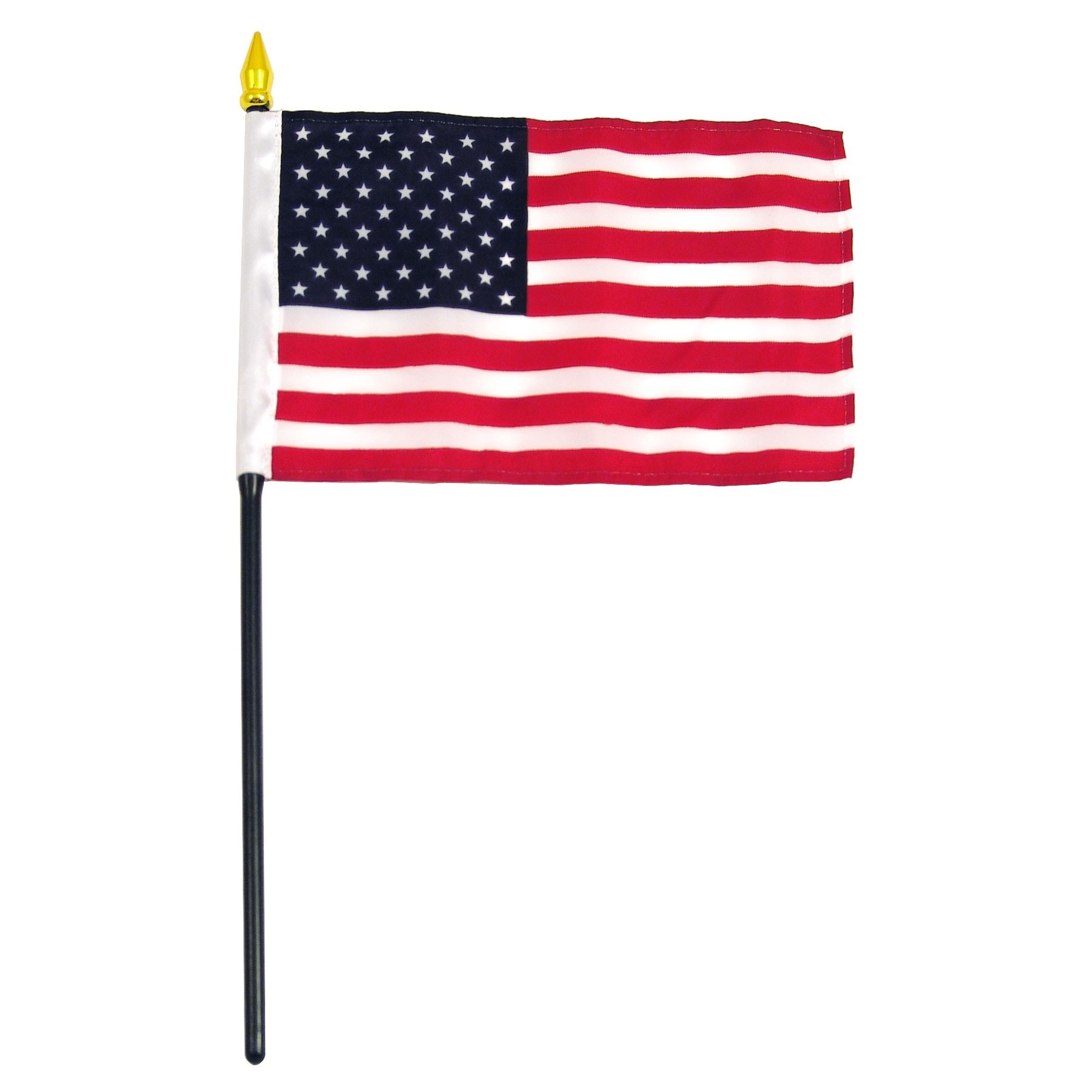 "Online Stores Stick Flag 4""x6"" - United States (USA)"