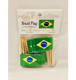 Toothpick Flags - Brazil