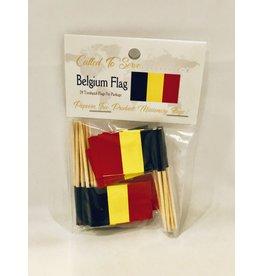 Toothpick Flags - Belgium