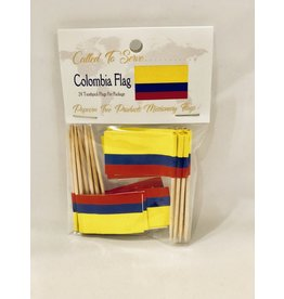 Toothpick Flags - Colombia