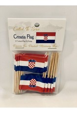 Toothpick Flags - Croatia