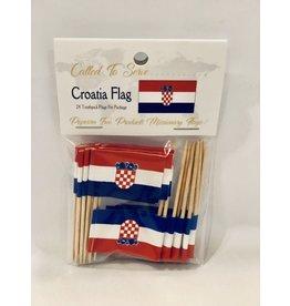Toothpick Flags - Croatia