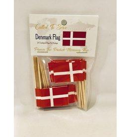 Toothpick Flags - Denmark