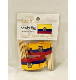 Toothpick Flags - Ecuador