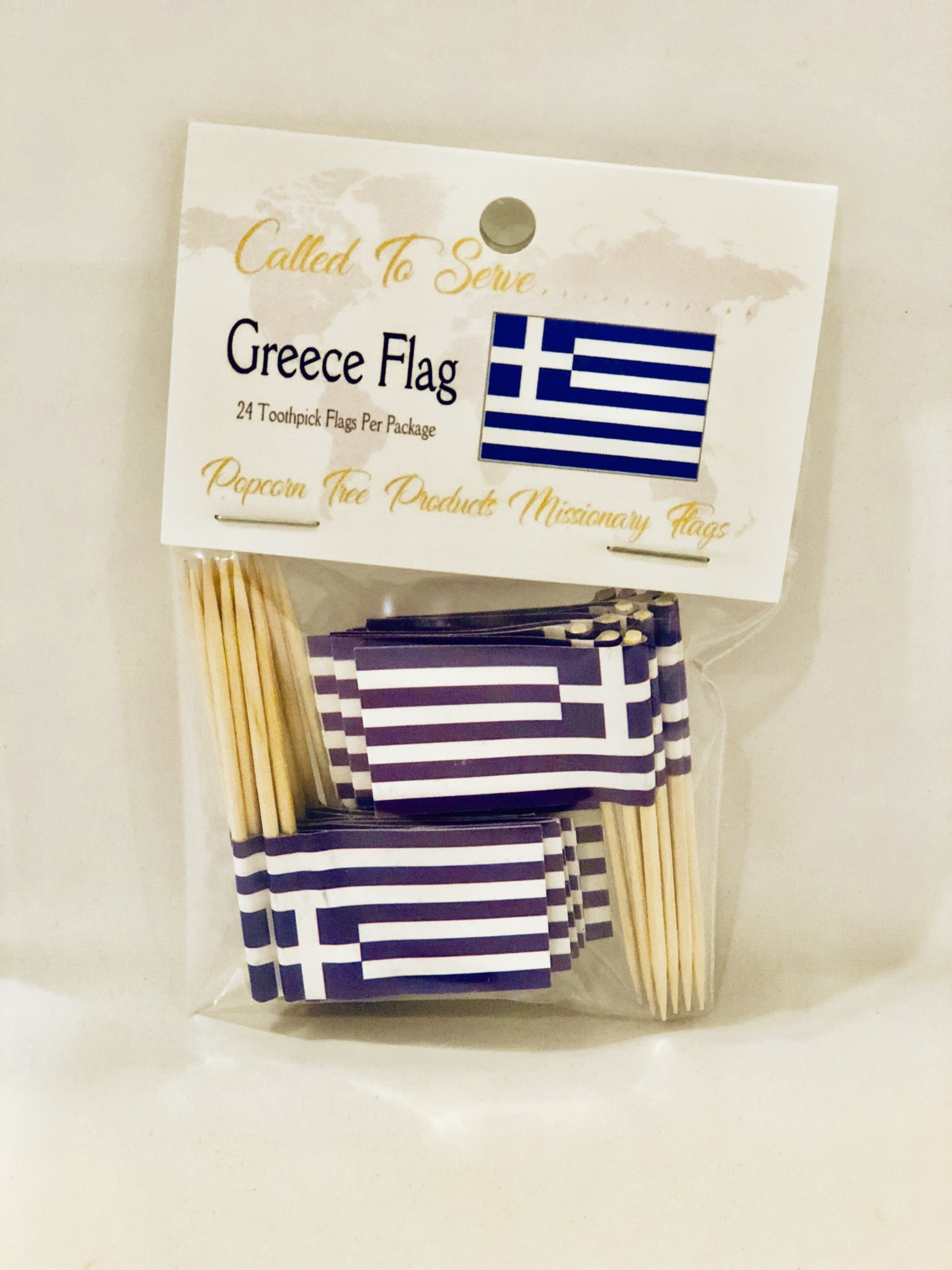 Toothpick Flags - Greece