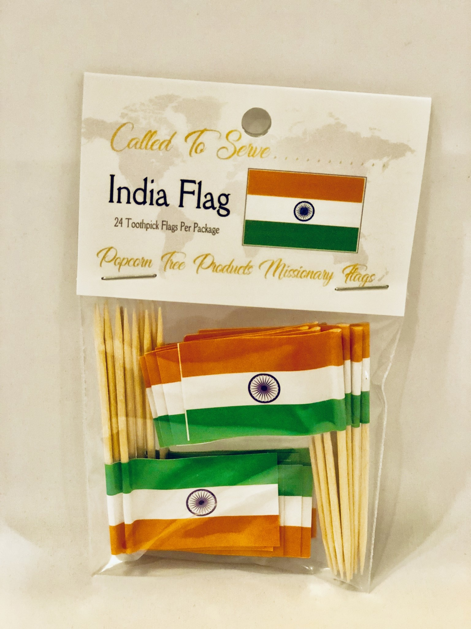 Toothpick Flags - India