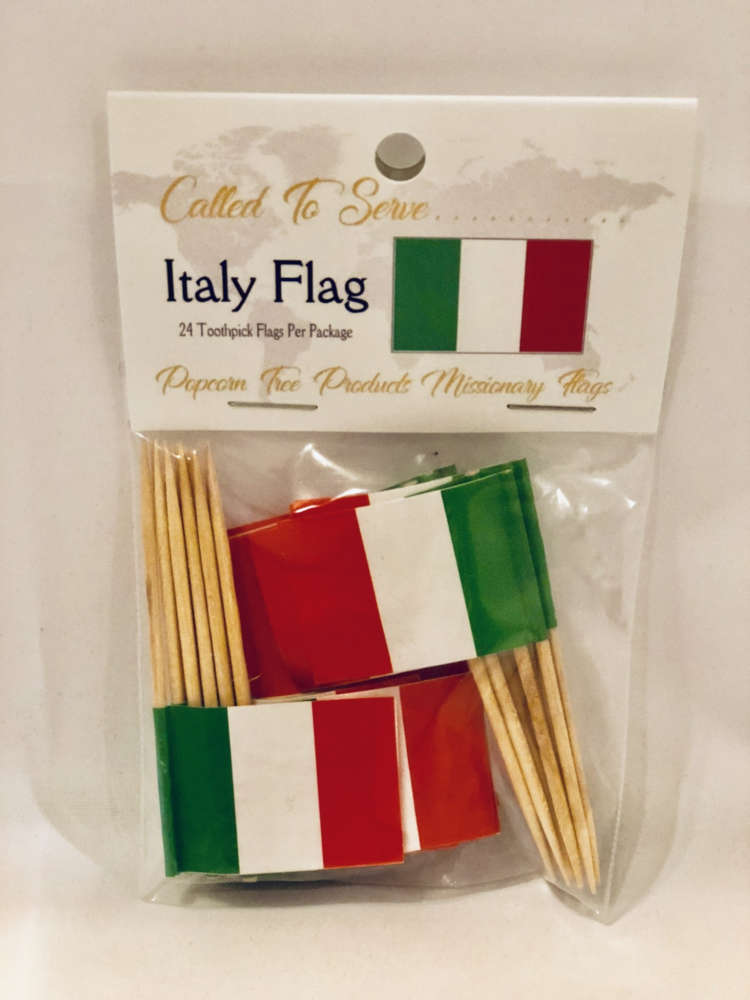 Toothpick Flags - Italy