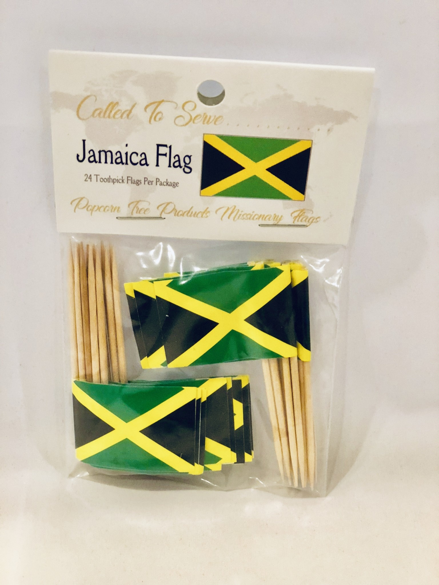 Toothpick Flags - Jamaica